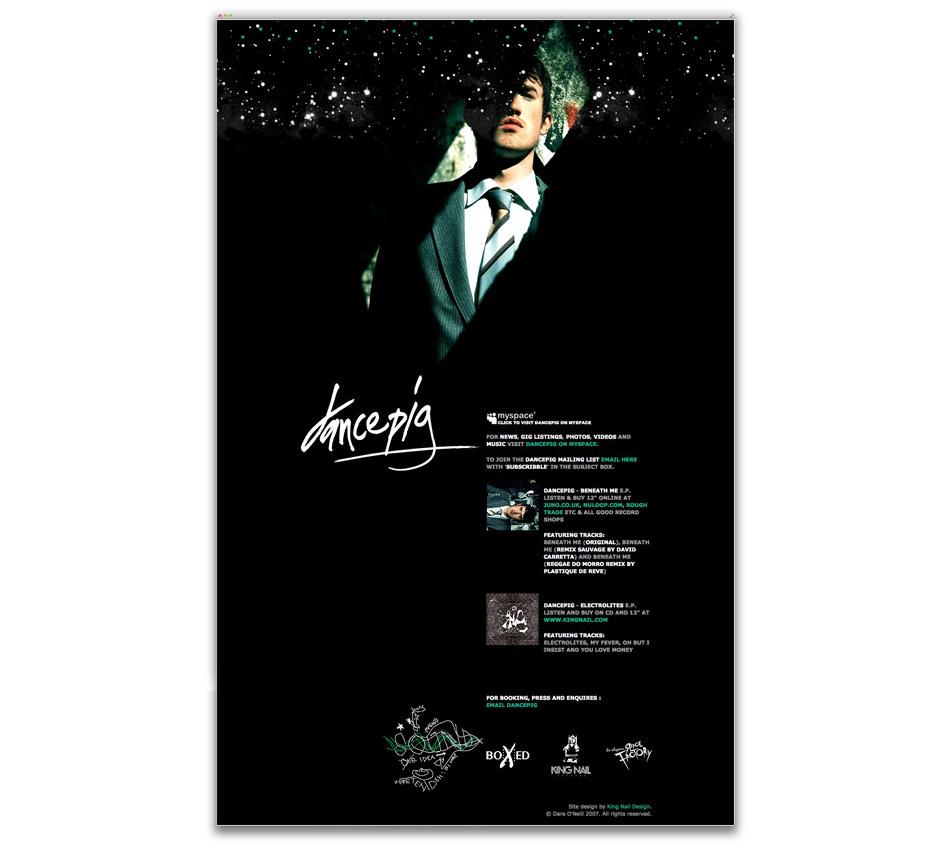 Website design for 2007.