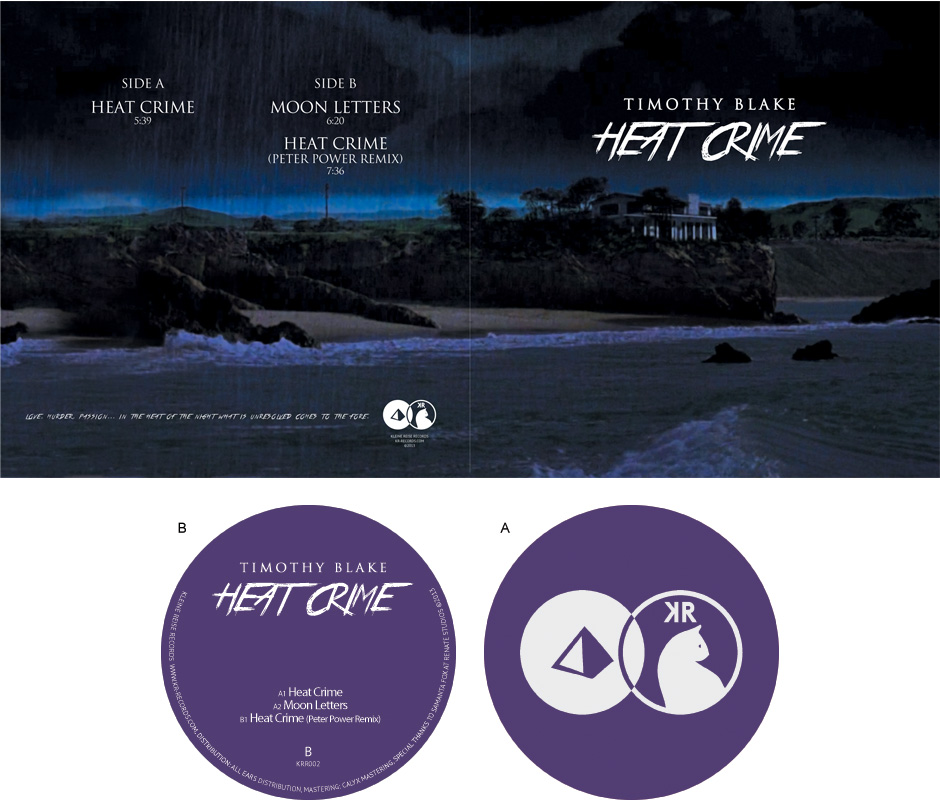 Second release 12 inch vinyl sleeve and label artwork.