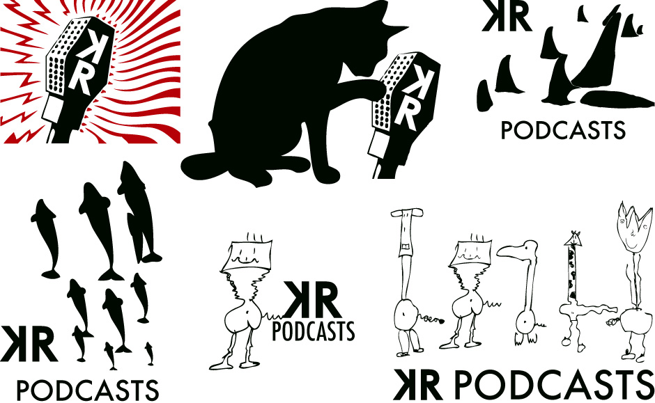 Kleine Reise Podcasts logo development.
