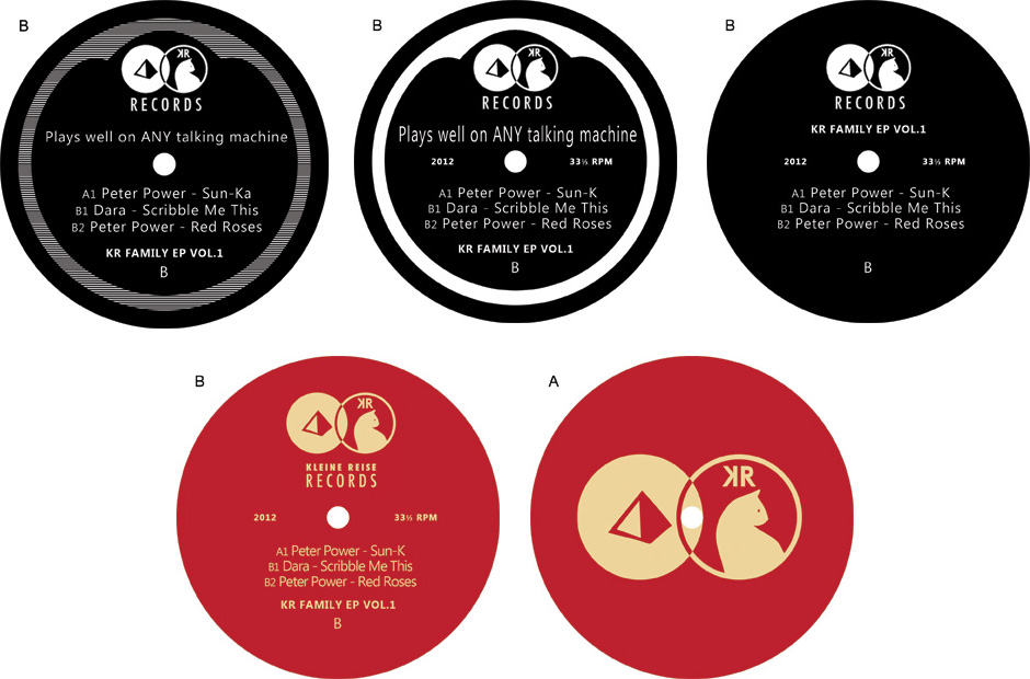 12 inch vinyl label development for first release.