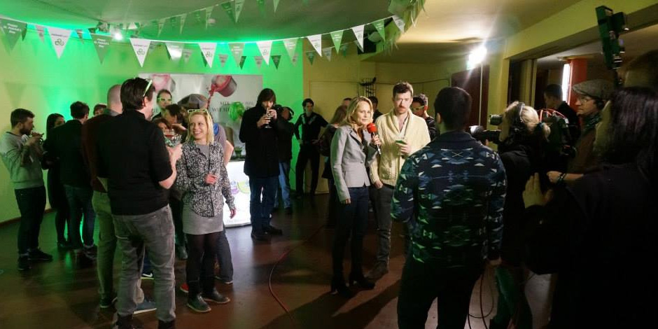 German TV station RBB live broadcast from Babylon Mitte with St. Patrick\'s Festival Berlin on St.Patrick\'s Day 2014.