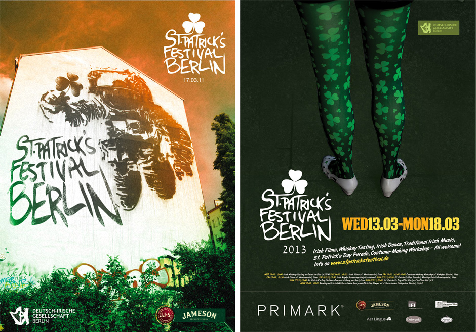 Promotional posters from 2011 and 2013.
