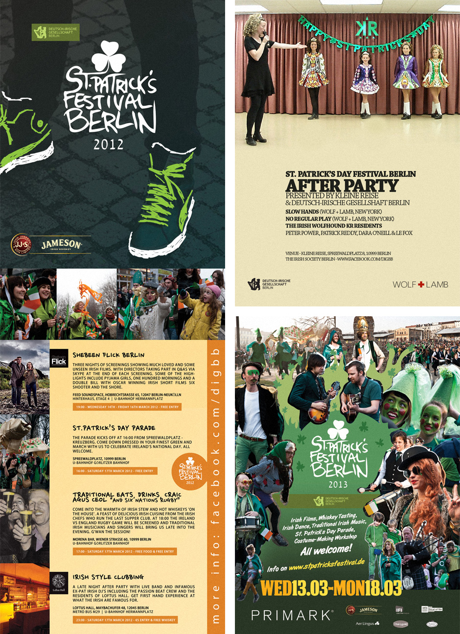A selection of posters from 2011, 2012 and 2013.